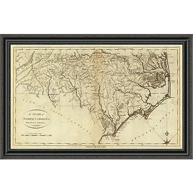 East Urban Home 'State of North Carolina; 1796' Framed Print; 26'' H x 40'' W x 1.5'' D