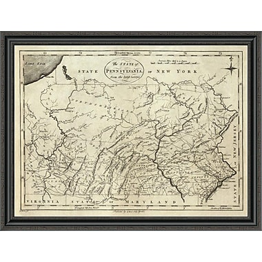 East Urban Home 'State of Pennsylvania; 1796' Framed Print; 23'' H x 40'' W x 1.5'' D