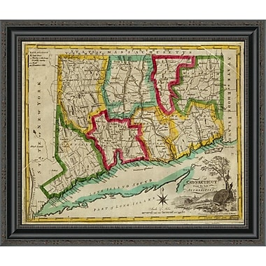 East Urban Home 'State of Connecticut; 1827' Framed Print; 24'' H x 26'' W x 1.5'' D