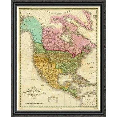 'Map of North America Including All the Recent Geographical Discoveries; 1826' Framed Print