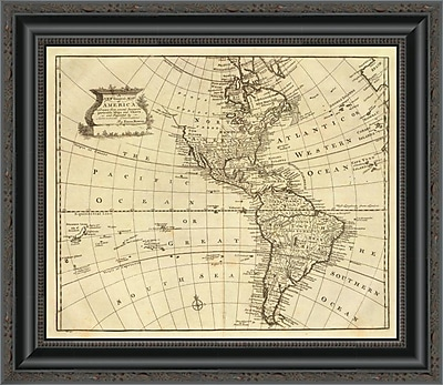 East Urban Home 'America; 1747' Framed Print; 34'' H x 20'' W x 1.5'' D