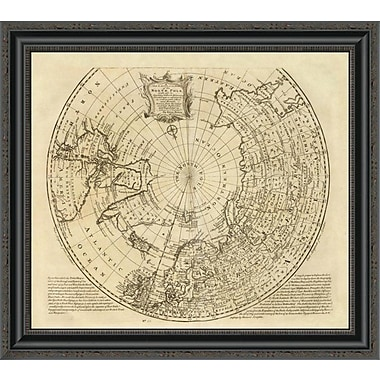 East Urban Home 'North Pole; 1747' Framed Print; 15'' H x 26'' W x 1.5'' D