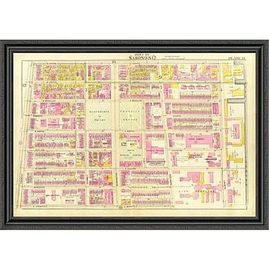 East Urban Home 'Boston - Wards 9; 12; 1895' Framed Print; 23'' H x 44'' W x 1.5'' D