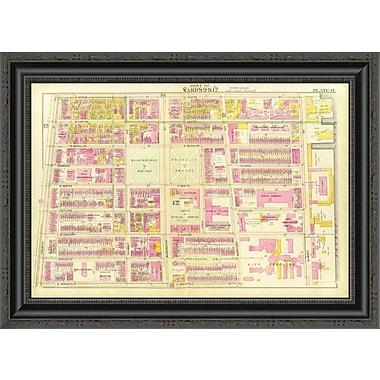 East Urban Home 'Boston - Wards 9; 12; 1895' Framed Print; 34'' H x 26'' W x 1.5'' D