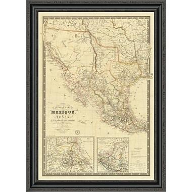 East Urban Home 'Nouvelle Carte Du Mexique; Du Texas; 1840' Framed Print; 17'' H x 25'' W x 1.5'' D