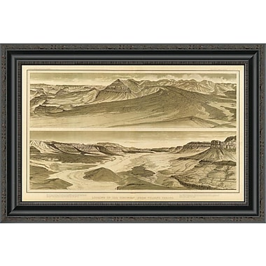 East Urban Home 'Grand Canyon - Looking Up the Toroweap From Vulcan's Throne; 1882' Framed Print