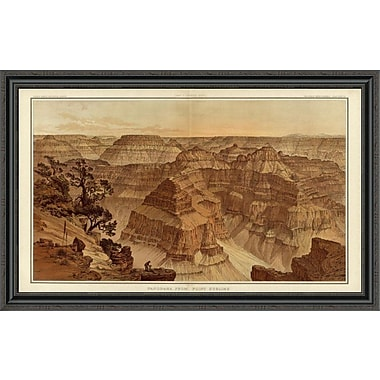 'Grand Canyon - Panorama From Point Sublime (Part I. Looking East); 1882' Framed Print