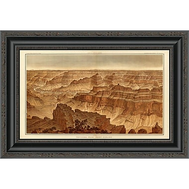 'Grand Canyon - Panorama From Point Sublime (Part II. Looking South); 1882' Framed Print