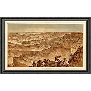 'Grand Canyon - Panorama From Point Sublime (Part III. Looking West); 1882' Framed Print