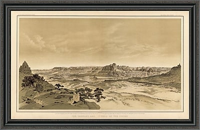 East Urban Home 'Grand Canyon - the Temples and Towers of the Virgen; 1882' Framed Print