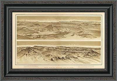 East Urban Home 'Grand Canyon - Views From Mt. Trumbull and Mt. Emma; 1882' Framed Print