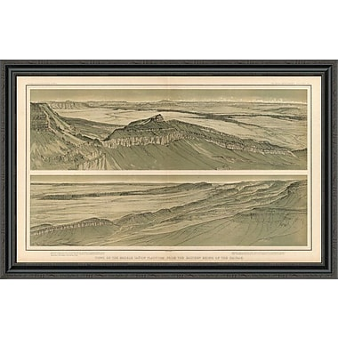 East Urban Home 'Grand Canyon - Views of the Marble Canon Platform; 1882' Framed Print