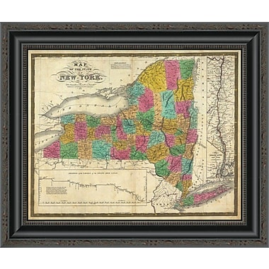 East Urban Home 'State of New York; 1831' Framed Print; 28'' H x 20'' W x 1.5'' D