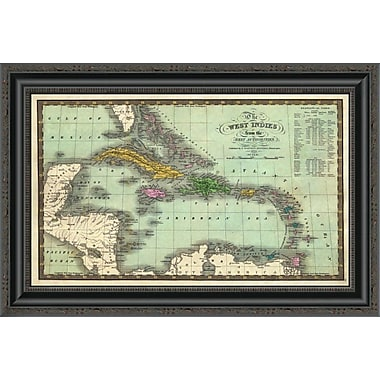 East Urban Home 'West Indies; 1831' Framed Print; 34'' H x 26'' W x 1.5'' D