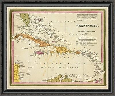 East Urban Home 'West Indies; 1846' Framed Print; 22'' H x 34'' W x 1.5'' D