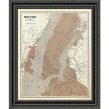 East Urban Home 'New York and Vicinity; 1845' Framed Print; 28'' H x 22'' W x 1.5'' D