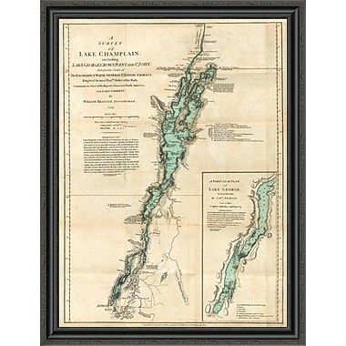 'A Survey of Lake Champlain; Including Lake George; Crown Point and St. John; 1776' Framed Print
