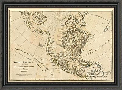 East Urban Home 'North America; As Divided Amongst the European Powers; 1776' Framed Print