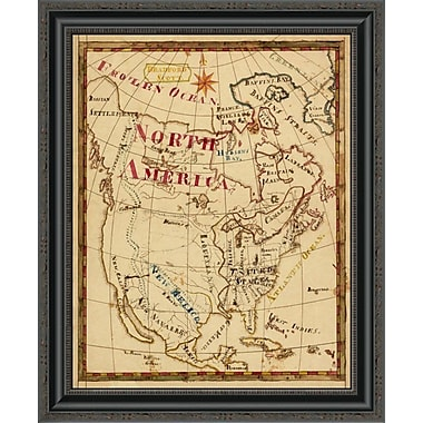 East Urban Home 'North America; 1816' Framed Print; 26'' H x 21'' W x 1.5'' D