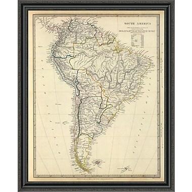 East Urban Home 'South America; 1842' Framed Print; 29'' H x 33'' W x 1.5'' D