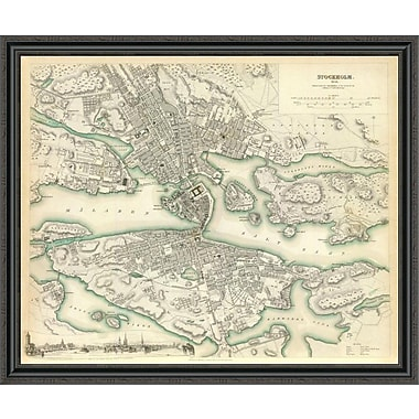 East Urban Home 'Stockholm; Sweden; 1838' Framed Print; 34'' H x 44'' W x 1.5'' D