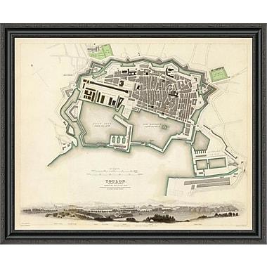 East Urban Home 'Toulon; France; 1840' Framed Print; 40'' H x 40'' W x 1.5'' D