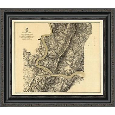 East Urban Home 'Civil War Map - Harper's Ferry; 1869' Framed Print; 29'' H x 20'' W x 1.5'' D