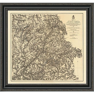 East Urban Home 'Civil War Military Operations of the Atlanta Campaign; 1874' Framed Print