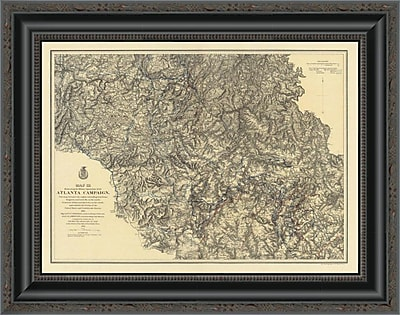 East Urban Home 'Civil War Military Operations of the Atlanta Campaign; 1876' Framed Print