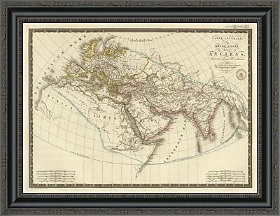 East Urban Home 'Monde Connu Des Anciens; 1821' Framed Print; 26'' H x 26'' W x 1.5'' D