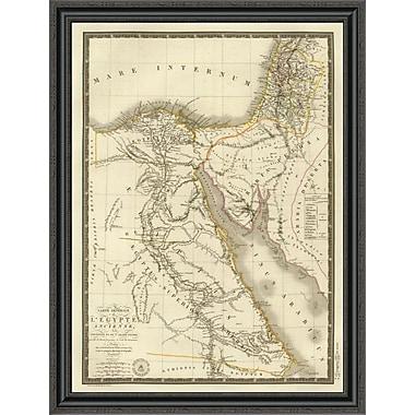East Urban Home 'Egypte Ancienne; Palestine; Arabie Petree; 1822' Framed Print