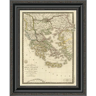 East Urban Home 'Grece Ancienne Et De La Mer Egee; 1827' Framed Print; 16'' H x 16'' W x 1.5'' D
