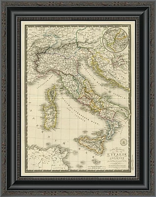 East Urban Home 'Italie Ancienne; 1828' Framed Print; 20'' H x 16'' W x 1.5'' D