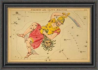 East Urban Home 'Perseus and Caput Medus ?_; 1825' Framed Print; 24'' H x 28'' W x 1.5'' D