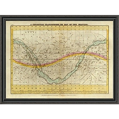 East Urban Home 'A Celestial Planisphere; or Map of the Heavens; 1835' Framed Print