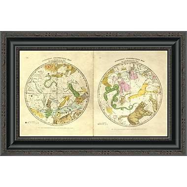 East Urban Home 'Circumpolar Map For Each Month of the Year; 1835' Framed Print