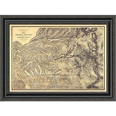 East Urban Home 'Sierra Nevada Adjacent to the Yosemite Valley; 1869' Framed Print