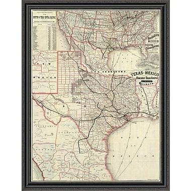 East Urban Home 'Texas and Mexico; Houston and Texas Central Railways; 1885' Framed Print
