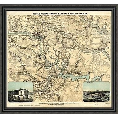 East Urban Home 'Hughes Military Map of Richmond & Petersburgh; Virginia; 1864' Framed Print