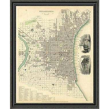 East Urban Home 'Philadelphia; Pa; 1840' Framed Print; 31'' H x 33'' W x 1.5'' D