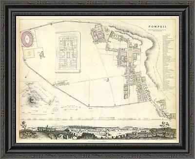 East Urban Home 'Pompeii; 1832' Framed Print; 17'' H x 26'' W x 1.5'' D