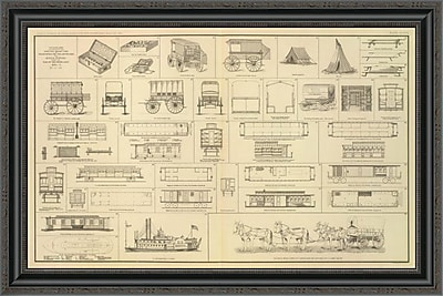 East Urban Home 'Civil War - Care of Sick; Wounded; 1895' Framed Print; 17'' H x 34'' W x 1.5'' D