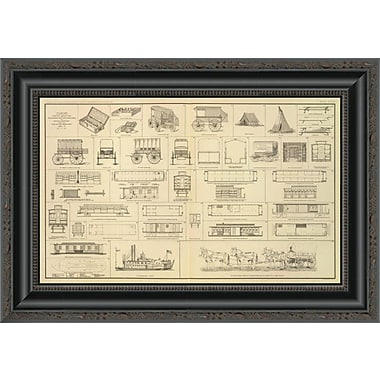East Urban Home 'Civil War - Care of Sick; Wounded; 1895' Framed Print; 29'' H x 20'' W x 1.5'' D