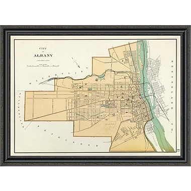 East Urban Home 'Albany; New York; 1895' Framed Print; 30'' H x 40'' W x 1.5'' D