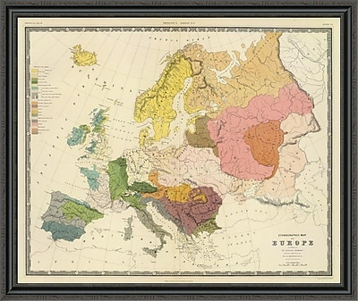 East Urban Home 'Ethnographic; Europe; 1856' Framed Print; 44'' H x 44'' W x 1.5'' D