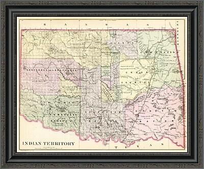 East Urban Home 'Indian Territory; 1890' Framed Print; 20'' H x 26'' W x 1.5'' D
