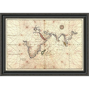 East Urban Home 'Portolan Map of Africa; the Indian Ocean and the Indian Subcontinent' Framed Print