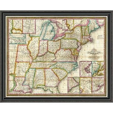 East Urban Home 'Mitchell's Travellers Guide Through the United States; 1832' Framed Print