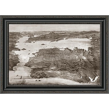 East Urban Home 'Birds-Eye View of San Francisco' Framed Print; 24'' H x 26'' W x 1.5'' D