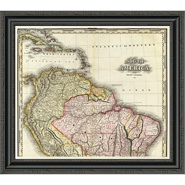 East Urban Home 'South America and West Indies; 1823' Framed Print; 22'' H x 26'' W x 1.5'' D